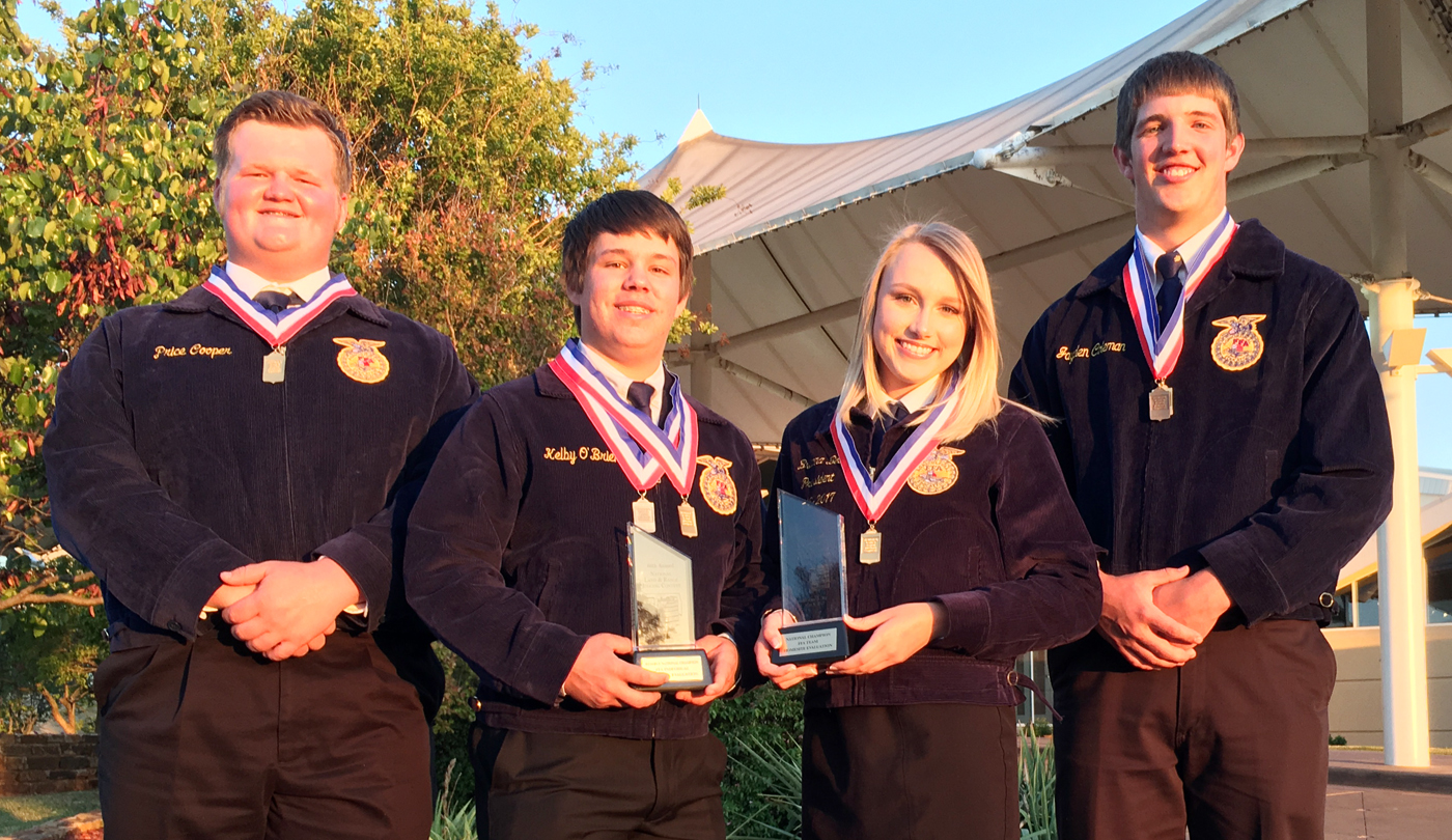 Members of the Klondike FFA Homesite National Championship team